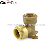 GutenTop Push Fit Fitting Drop Ear Codo Conector rápido con PEX COPPER CPVC pipe